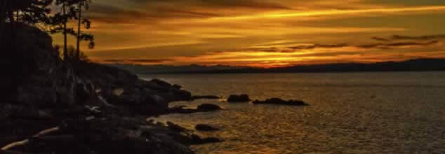 Saxe Point Sunset – by Sarah Howells