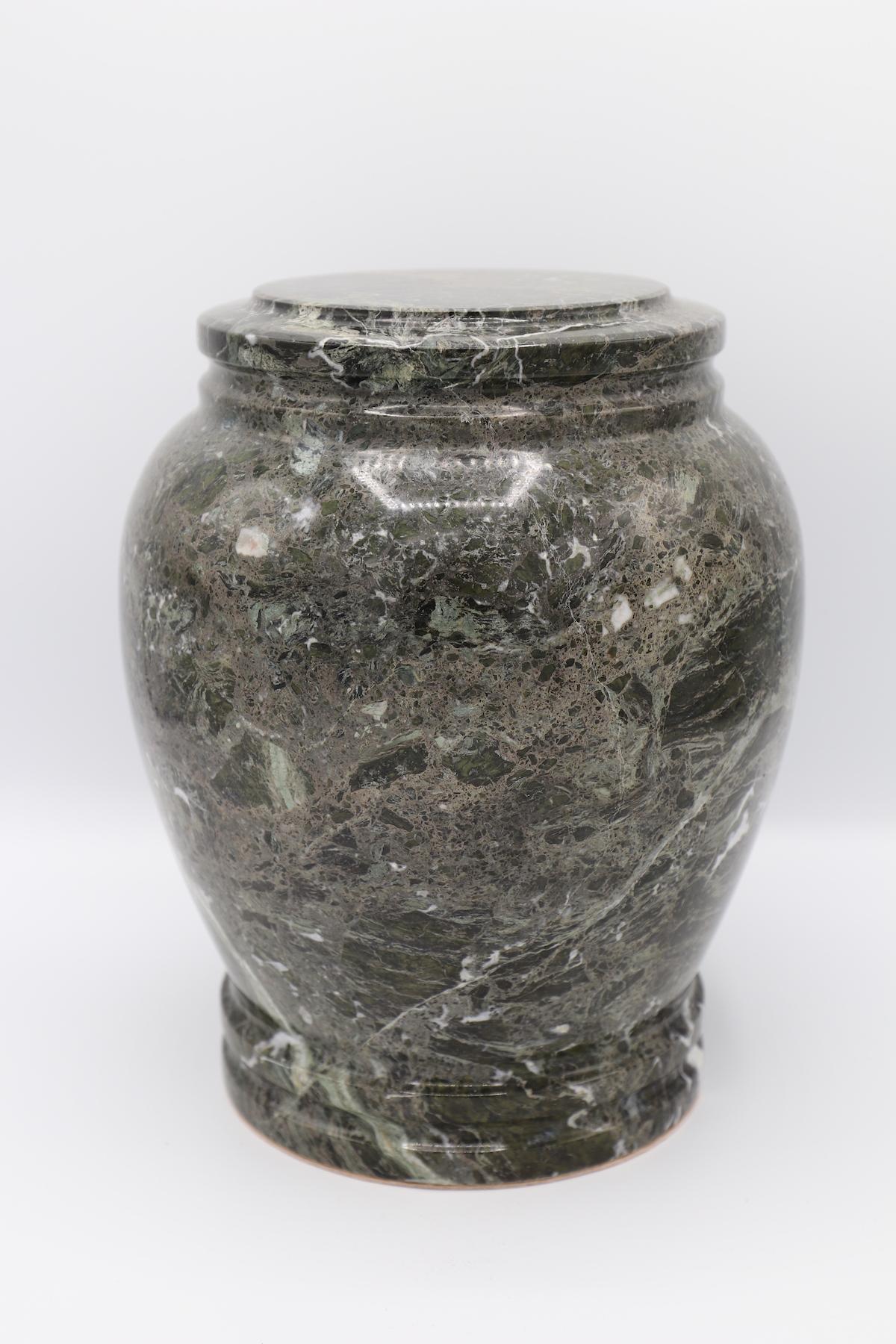 Green Zebra Stone Cremation Urn